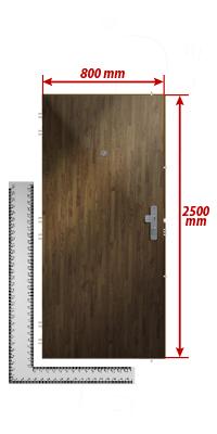 Sehr Zuschlag für außergewöhnliche Höhe der Tür bis max. Höhe 250cm DK01