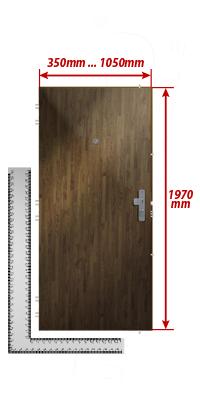 zuschlag f r au ergew hnliche t rbreite h he der t r standard adlo. Black Bedroom Furniture Sets. Home Design Ideas